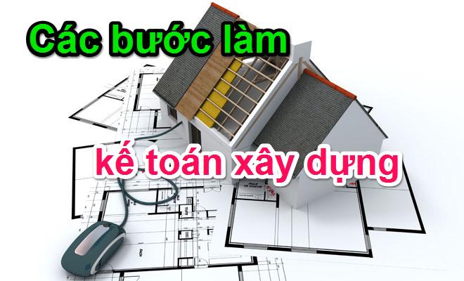 Kết quả hình ảnh cho hướng dẫn làm kế toán xây dựng