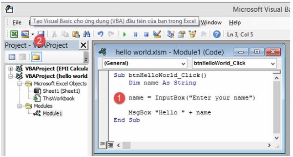 Lập trình VBA trong Excel