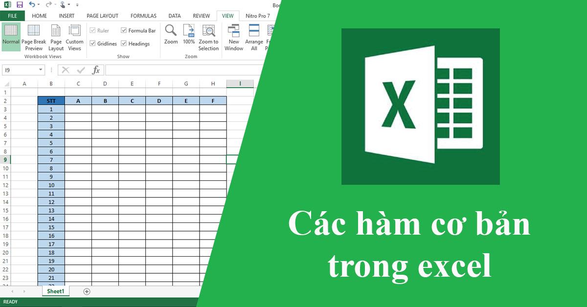 Hàm so sánh trong Excel